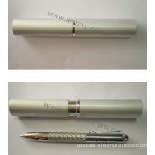 Выдвиженческий подарок стальной проволоки ручка с металлической коробке (ЛТ-C340)