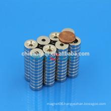15X5mm 20X3mm NdFeB NIB Neo ndfeb countersunk ring magnet