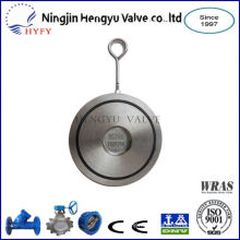 Finely processed lug type disc check valve