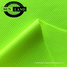 high quality polyester sport mesh clothing EN ISO 20471 SGS certificated fluorescent high visibility fabric