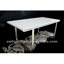 Modern high gloss white MDF dining table