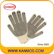 Natural de algodón tc punto de PVC puntos guante de trabajo de seguridad industrial (61003TC)