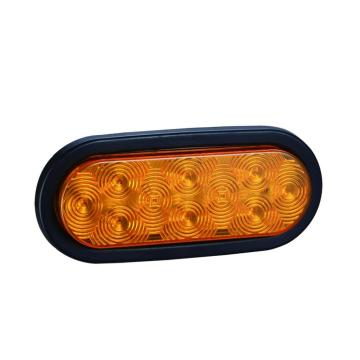 6 Inches Oval Amber Trailer Indicator Turn Lights