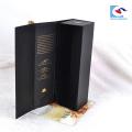 En gros De Luxe personnalisé pliant carton magnétique cadeau boîte emballage vin