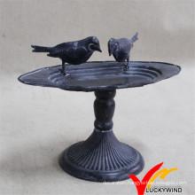 Antique Cast Iron Metal Tray Bird Feeder
