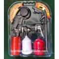 Air Gun 5 pcs Kit duplo blister embalado gravity glass pistola de pulverização