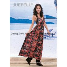 Ladies Knit Floral Print Cami Maxi Dress