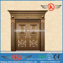 JK-C9022 beautiful carving copper clad door coppoer main door design