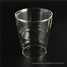 Small Heat Resistant Glass Double Wall Glass
