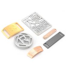 Manufacturers custom high quality handbag metal label metal logo plate labels for clothing
