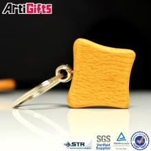 Porte-clés en bois fait sur commande de logo en relief fait sur commande de vente directe d'usine