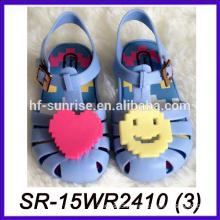 blue smile face wholesale jelly sandals transparent sandals plastic sandals
