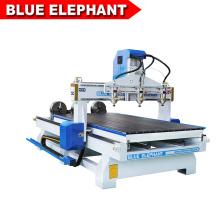 Jinan azul elefante rotograbado cilindro 4d madera arte trabajo cnc máquina de grabado con costo económico