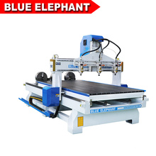 Jinan blue elephant rotogravure cylinder 4d wood art work cnc engraving machine with economic cost