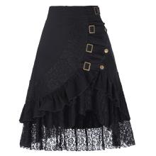 Белль некоторые из них имеют старинные Женская стимпанк готический одежда цыганский хиппи высокий эластичный нейлон-хлопок и кружева юбки BP000205-1