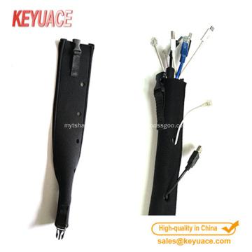 Manchon de câble de fermeture à glissière de néoprène de qualité faite sur commande de qualité
