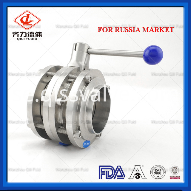 Sanitary Stainless Steel Butterfly Valve 113
