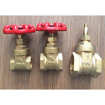 Заводский латунный клапан управления с железной ручкой (YD-3005-1)