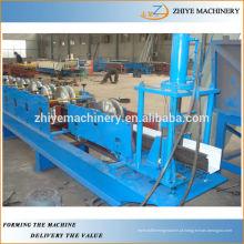 Telhas metálicas Goteiras de perfuração Perfil Gutters Roll formando a máquina