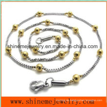 Hot-Selling Edelstahl Perle Kette Modeschmuck Halskette (SSNL2631)