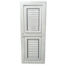 Porte à battants de salle de bain la moins chère avec persiennes en aluminium