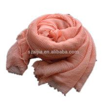 Moda de poliéster crinkle voile infinidade lenço