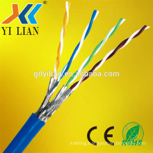 Trade assurance shilded Twisted Pair Network Cable Cat7 SSTP Lan network Cable extender pvc jacket LSZH round price per meter