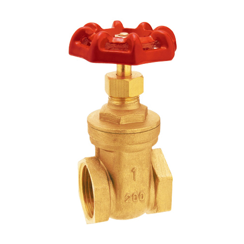 J1001 female threaded brass gate valve