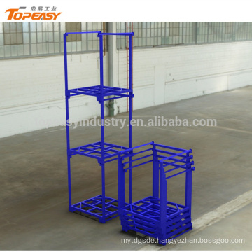 Heavy duty movable steel stacking racks and shelves