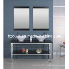 Cabinet de salle de bains en acier inoxydable (B-601)