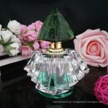 Boa qualidade vender bem projetar seu próprio frasco de perfume de cristal com tampa de garrafa de perfume