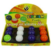 2014 new design round cosmetics cute lip balm