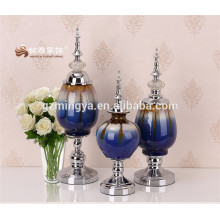 Other home decoration electroplated special antique style glazed ceramic vase crafts