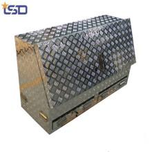 cheap high quality waterproof half opening Aluminum truck tool box
