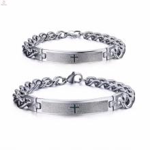 popular bulk custom fashion stainless steel mens bracelet