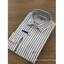 Camisa masculina de manga comprida com bordado requintado