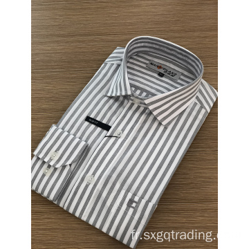 Chemise homme à manches longues avec broderie exquise