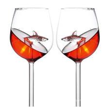 New Creative Glass Shark Goblet, Custom Red Wine Glassware