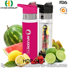 700ml personalizado garrafa de infusão BPA livre frutas de plástico, garrafa de água de Tritan recentemente (HDP-0473)