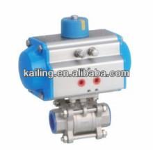 3 pcs pneumatic ball valve