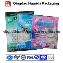 Плоский пластиковый мешок для Сора кота Упаковывая, мешок Сора кота
