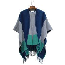 Xale de franja de acrílico tecido inverno moda cor da moda senhora bloco (yky4502)