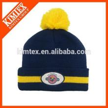 wholesale custom acrylic slouch beanie winter hat with pom