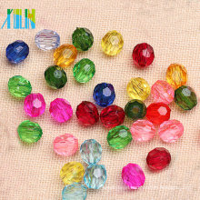 Wholesale clear 32 cut faceted balls acrylic beads #5000