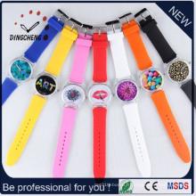 Le bracelet de silicone de courroie de silicone observe la montre à quartz (DC-481)