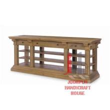 Mesa consola de madera con estante