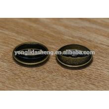 Botão de pressão de metal personalizado para couro com dois furos