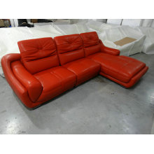 High Quality Top Grain Red Leather Sofa (A849)