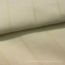 100% tela dobby de rayas de algodón para tops de damas