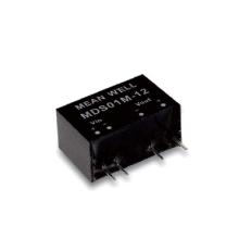 Meanwell MDS01 y MDD01 serie 1W SIP paquete DC-DC grado médico convertidor no regulado